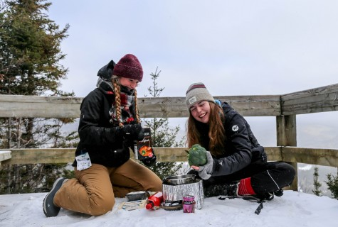 Canton fondue while snowshoeing