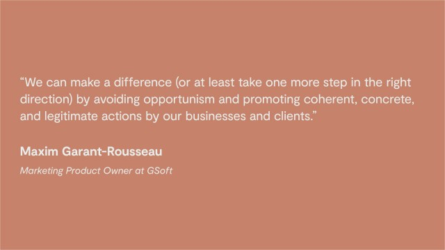 Maxim Garant-Rousseau quote from GSoft