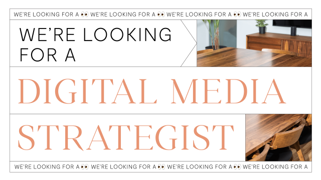 We are looking for a Digital Media Strategist